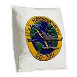 USS HAYNSWORTH Burlap Throw Pillow