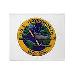 USS HAYNSWORTH Throw Blanket