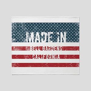 Made in Bell Gardens, California Throw Blanket