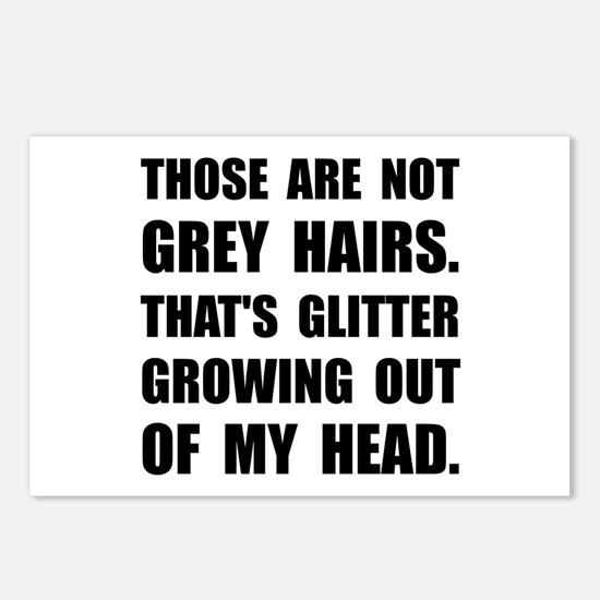 Grey Hairs Glitter Postcards (Package of 8)