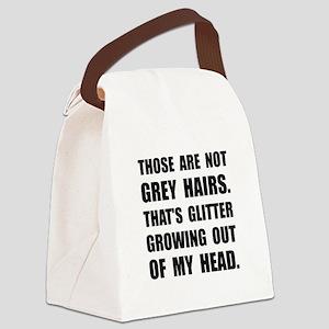 Grey Hairs Glitter Canvas Lunch Bag