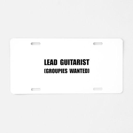Lead Guitarist Groupies Aluminum License Plate