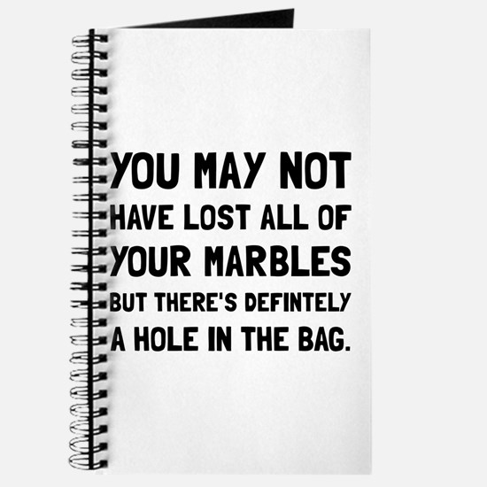 Lost Your Marbles Journal