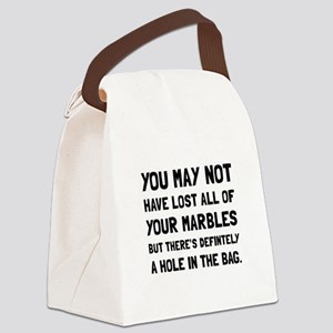 Lost Your Marbles Canvas Lunch Bag