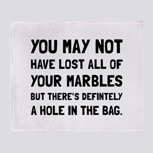 Lost Your Marbles Throw Blanket