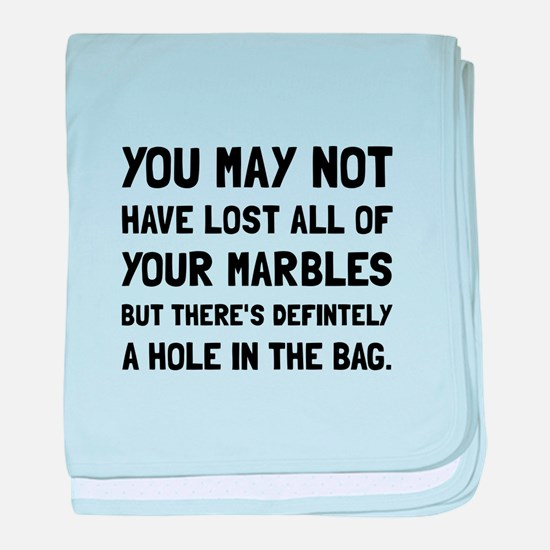 Lost Your Marbles baby blanket