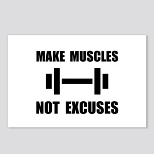 Make Muscles Not Excuses Postcards (Package of 8)