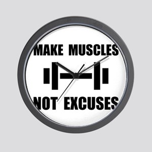 Make Muscles Not Excuses Wall Clock