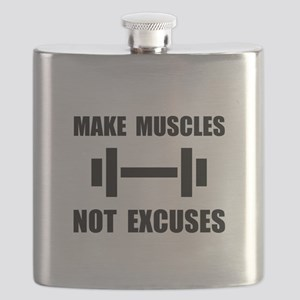 Make Muscles Not Excuses Flask