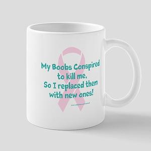 Previvor - boob conspiracy Mugs