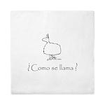 2-Llama Only Black Queen Duvet