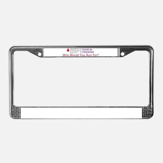 Cute Donate License Plate Frame