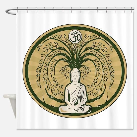 Buddha and the Bodhi Tree Shower Curtain