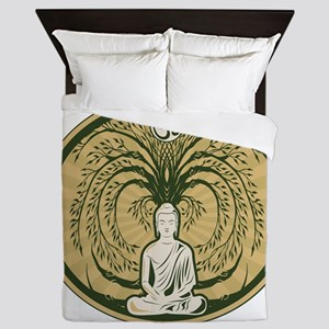 Buddha and the Bodhi Tree Queen Duvet