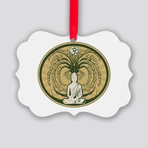 Buddha and the Bodhi Tree Picture Ornament