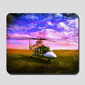 Helicopter. Mousepad