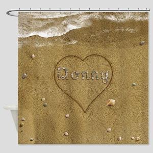 Donny Beach Love Shower Curtain