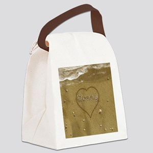 Donny Beach Love Canvas Lunch Bag