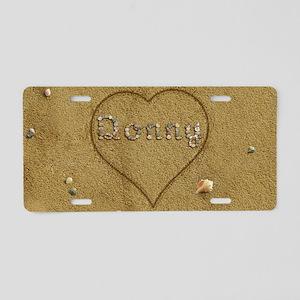Donny Beach Love Aluminum License Plate