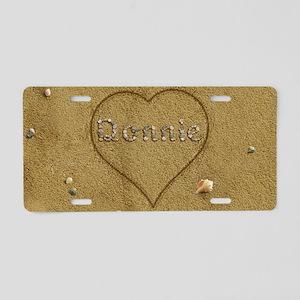 Donnie Beach Love Aluminum License Plate