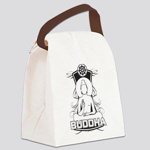 Buddha and the Dharma Wheel Canvas Lunch Bag