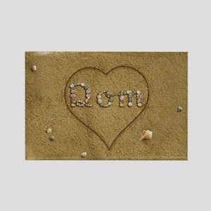 Dom Beach Love Rectangle Magnet