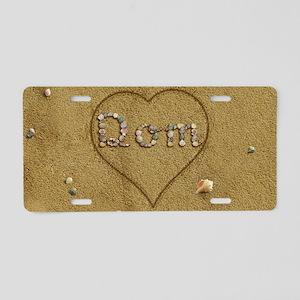 Dom Beach Love Aluminum License Plate