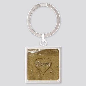 Dom Beach Love Square Keychain