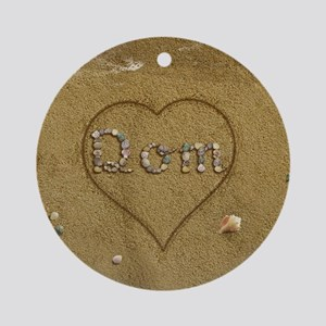 Dom Beach Love Ornament (Round)