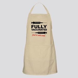 Fully Vaccinated You're Welcome Apron