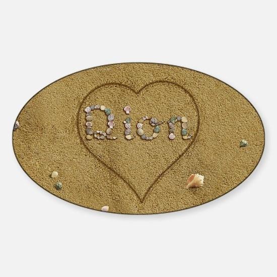 Dion Beach Love Sticker (Oval)
