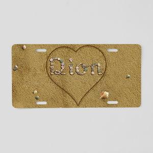 Dion Beach Love Aluminum License Plate