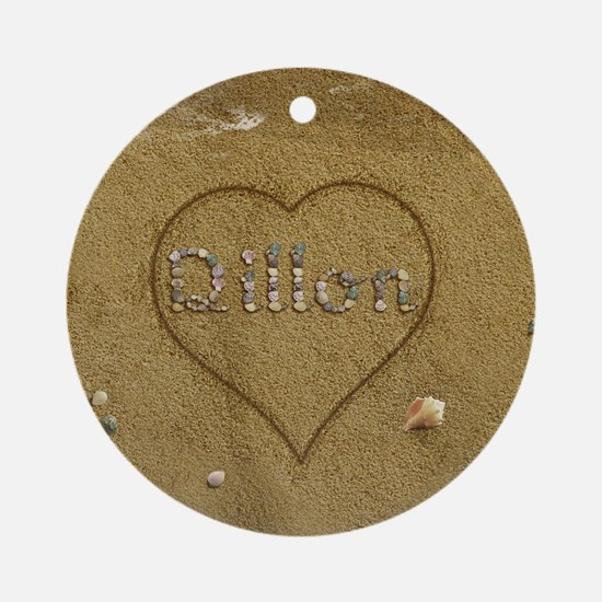 Dillon Beach Love Ornament (Round)