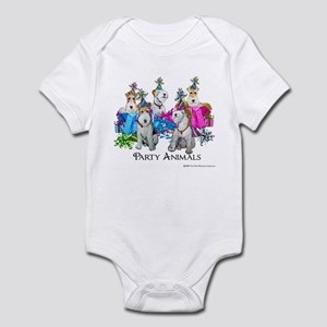 Fox Terrier Party Animals Infant Bodysuit