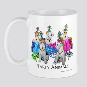 Fox Terrier Party Animals Mug