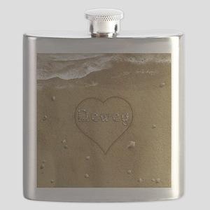 Dewey Beach Love Flask