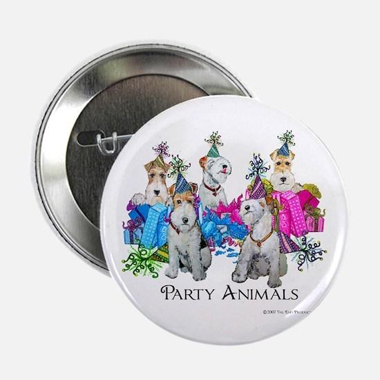 Fox Terrier Party Animals Button