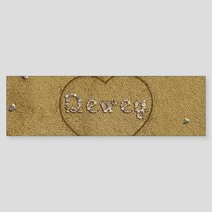 Dewey Beach Love Sticker (Bumper)