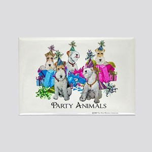 Fox Terrier Party Animals Rectangle Magnet