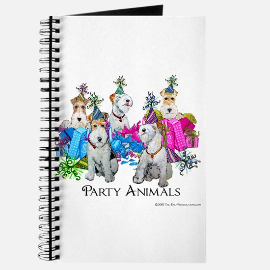 Fox Terrier Party Animals Journal