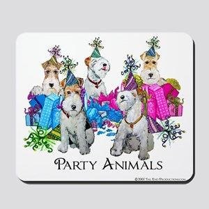 Fox Terrier Party Animals Mousepad