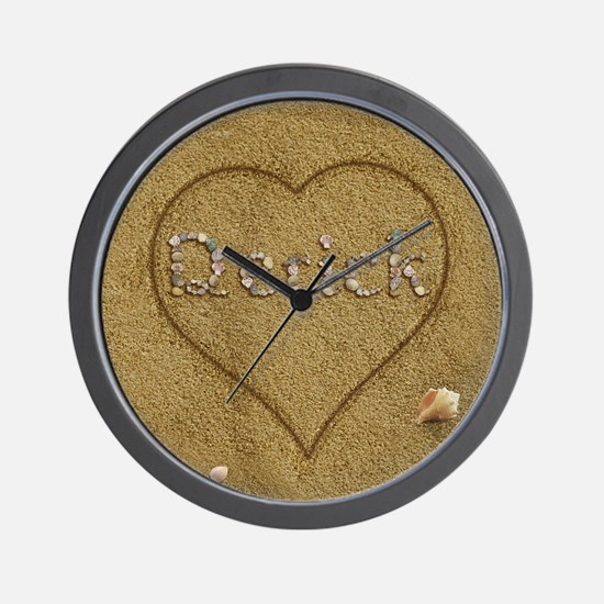 Derick Beach Love Wall Clock