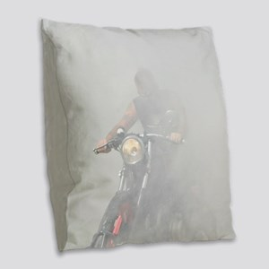 Smoke Rider Burlap Throw Pillow