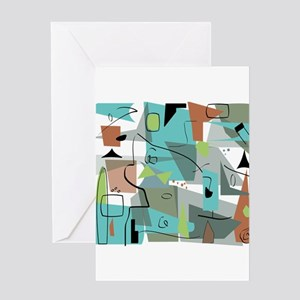 Mid-Century Modern Abstract Greeting Cards