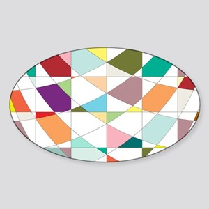 Abstract Colors Tapestry Sticker