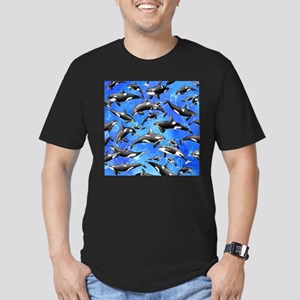 Orca Men's Fitted T-Shirt (dark)