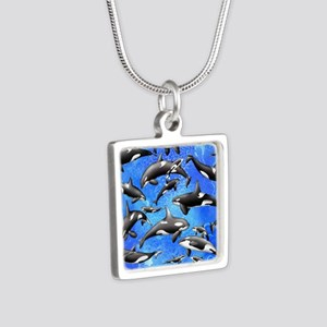 Orca Silver Square Necklace