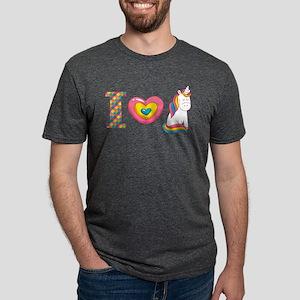 I Love Unicorns Mens Tri-blend T-Shirt