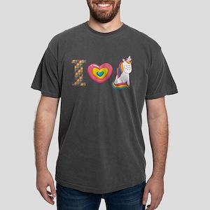 I Love Unicorns Mens Comfort Colors Shirt