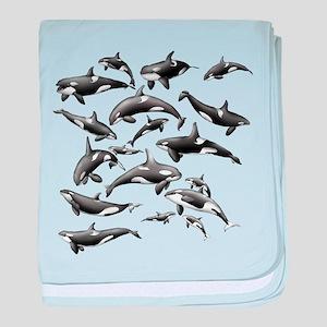 Orca baby blanket